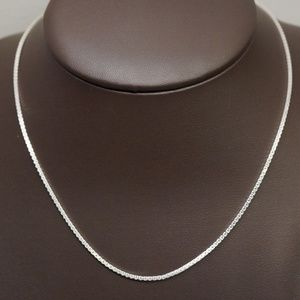"""Sterling Silver (.925) 16"""" Fancy Double Box Chain"""